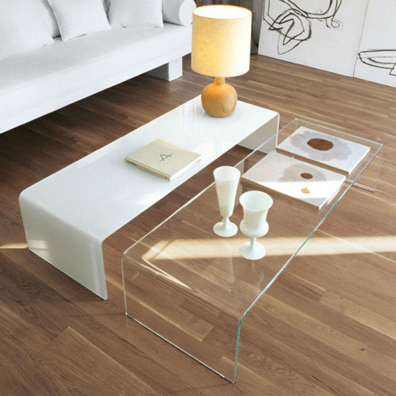 מודרני חם כיפוף זכוכית שולחן קפה ארוך -שולחנות זכוכית-מספר