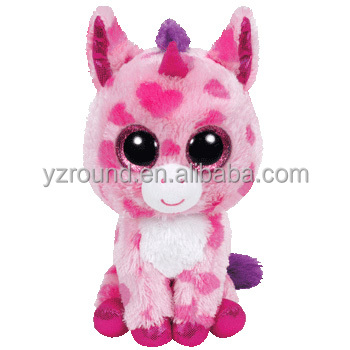 Big Eyes Plush Stuffed Animals New Ty Fantasia The Multi Color Unicorn  Beanie Boos Stuffed Animal cd8eea94e35