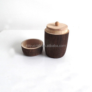 Wooden Kitchen spice pot Sugar pot Sugar cellar