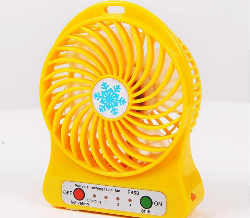 Ventilateur Multicolore Pour Bureau à poser USB Et Fonctionnement Sur Batterie