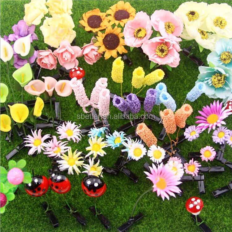 Sell Moe Artifact Funny Funny Sprouts Flower Head Long Grass Sprouting Hair Accessories Small grass Hairpin Hairpin Small toys