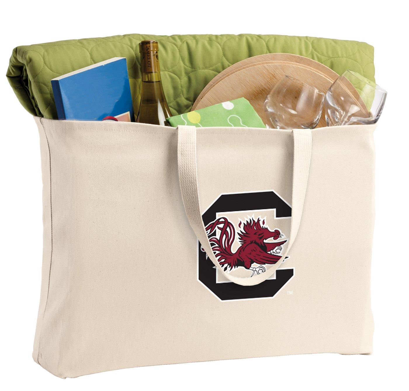 JUMBO University of South Carolina Tote Bag or Large Canvas USC Gamecocks Shopping Bag