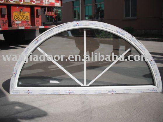 Wanjia Upvc Material Arch Shape Fixed Window Wj-w-020