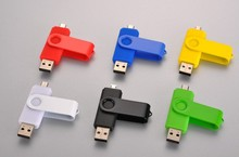 64GB 2-In-1 Micro USB 2.0 OTG Flash Drive Swivel Design For Android Smartphone/Tablet /PC