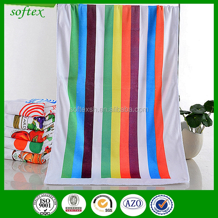 American style kitchen towel,warp knitting printing tea towel