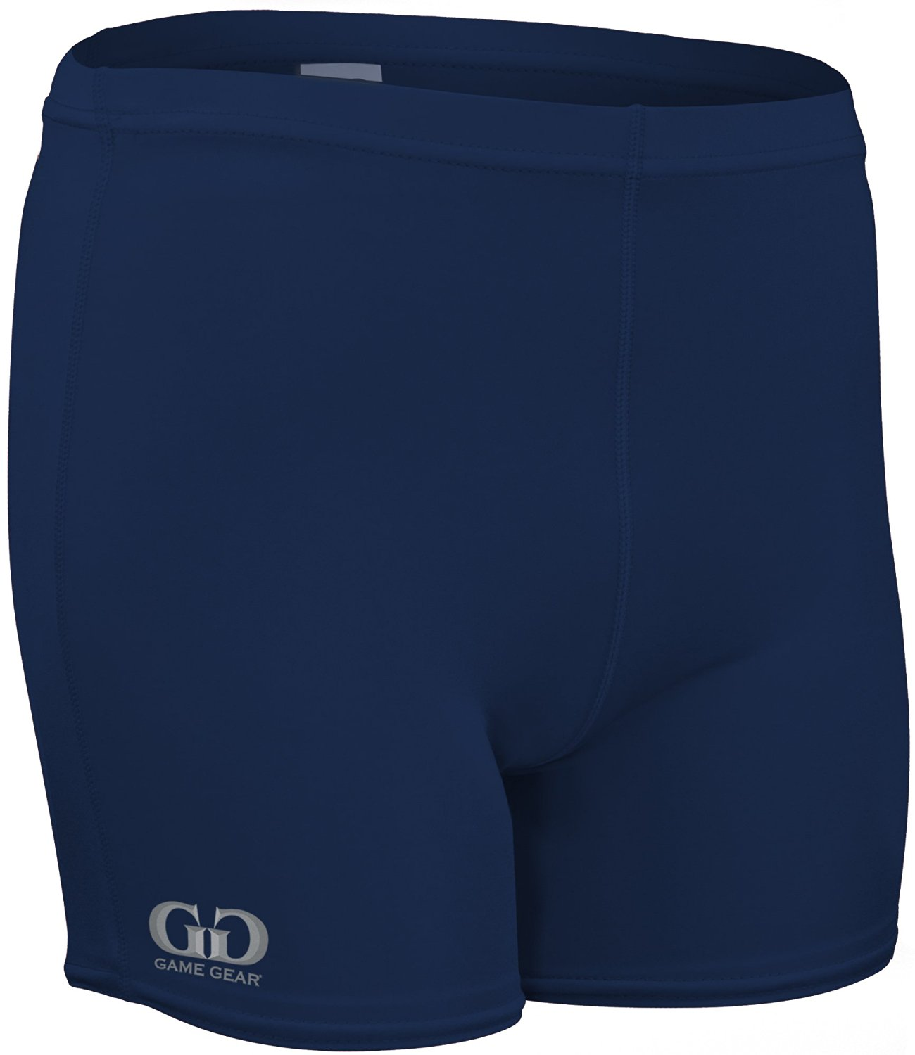 """HT203 Women's 4"""" Solid Athletic Volleyball Compression Sport Short (XXX-Large, Navy)"""