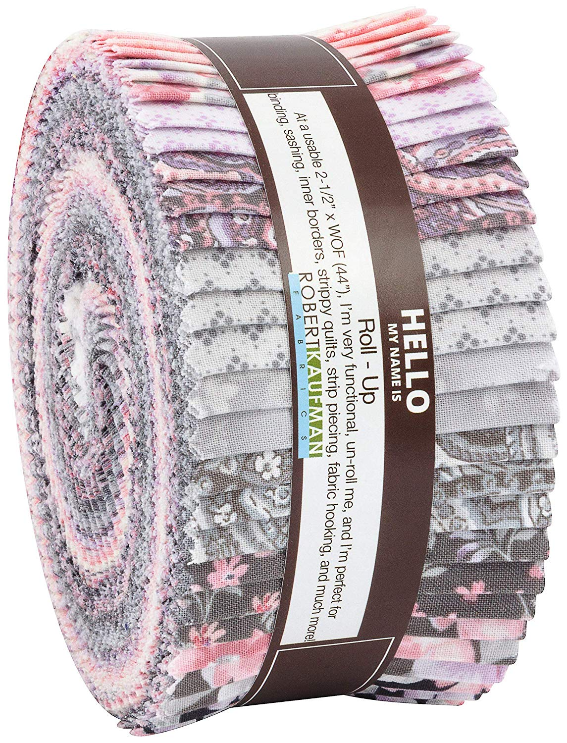 Woodside Blossom Vintage Roll Up 40 2.5-inch Strips Jelly Roll Robert Kaufman Fabrics RU-751-40