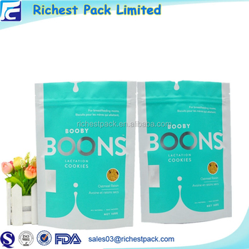 2017 Whey Protein Plastic Food Storage Container Stand Up Pouch With Zipper
