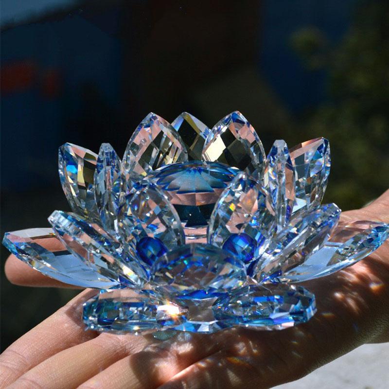 Dilu brand New European crystal lotus flower candle holder /crystal votive candle holder /crystal lotus flower