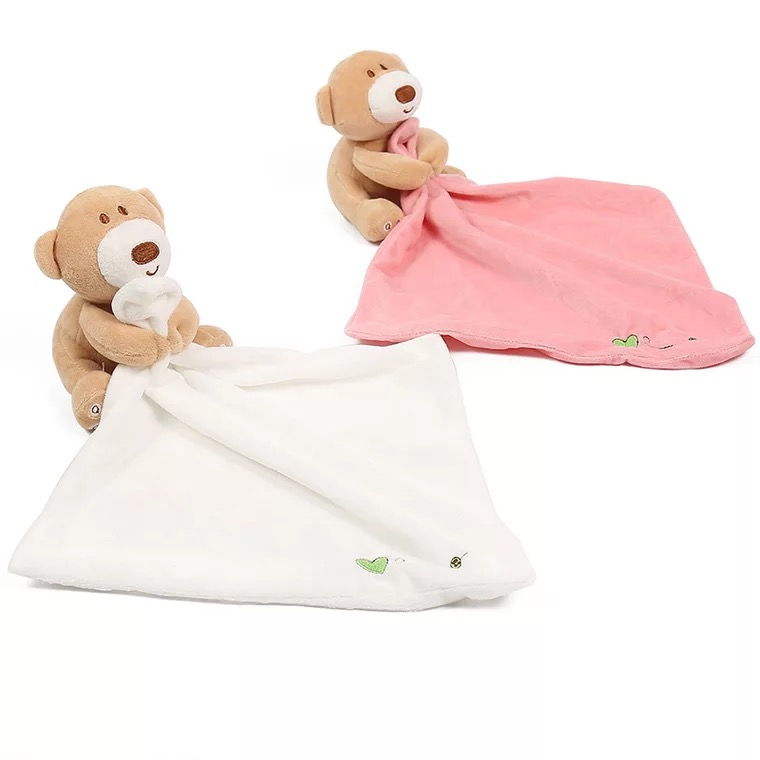 Plush Bear China Baby Security Blanket Blankets With <strong>Animals</strong>