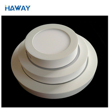 Guangzhou haway lighting surface mounted round led panel light 12W warm white with good quality