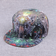 Full printing Hip Hop Designed Flexfit Snapback/ Flat Polyester/Cotton Hats