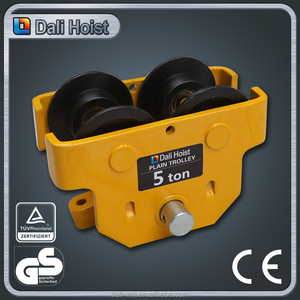 trolley supplier in dubai 5 ton Manual geared material handling tools plain trolley