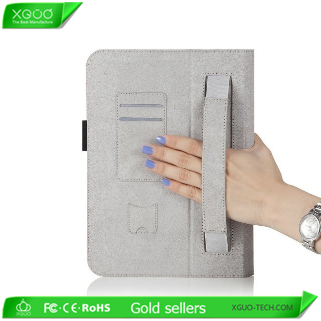For microsoft surface pro 3 stand leather case with hand holder