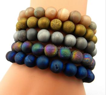 Mineral Beads Bracelets New Design Semi Precious Stone Natural Energy Prayer