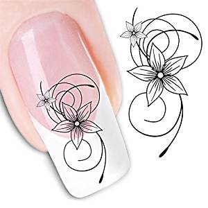 Nicedeco - 1pack New Products Nail Design Manicure Decals Nail Art Water Nail Art Decal / Tattoo / Sticker Nail Decorate Nail Design Manicure Decals Nail Art Water Nail Art Decal / Tattoo / Sticker BE299