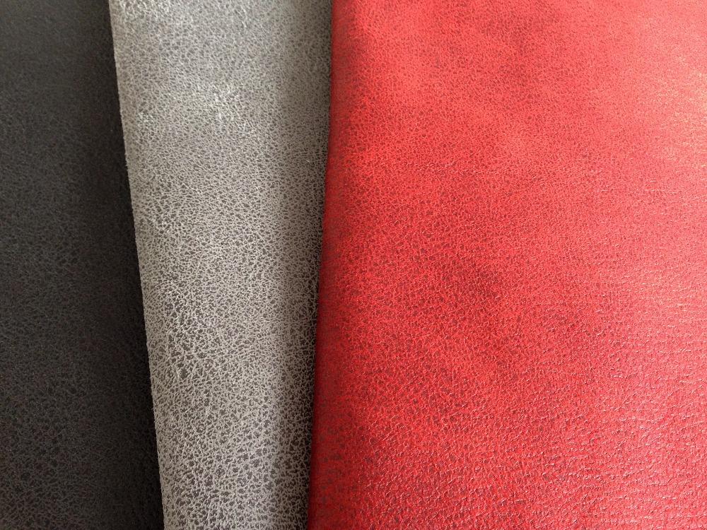 Serie divano in tessuto della pelle scamosciata velvet cuoio