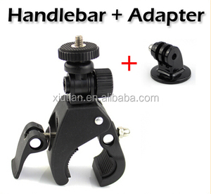 Go Pro Accessories Bike Bicycle Motorcycle Handlebar Handle Bar Camera Mount +Tripod Adapter for GoPro Hero 5 4 3+ sj5 4000