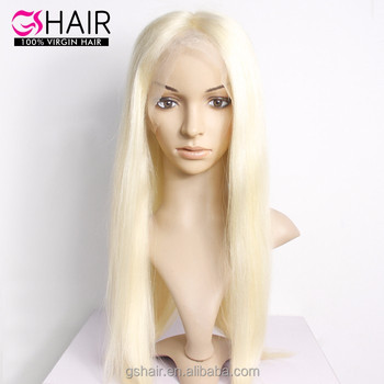 613 Half Lace Wig Straight Long Blonde Human