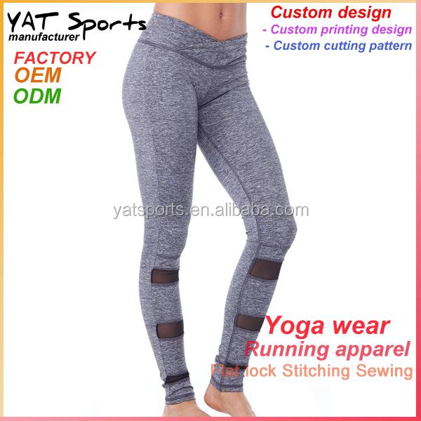 China Sports Wear Women Lycra Fabric Leggings