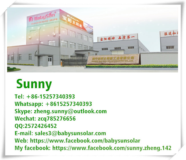 China Factory Compact Color Steel Unpressurized Homemade Solar ...