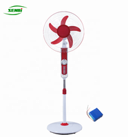 long working time rechargeable fan battery stand fan 16inch with led light