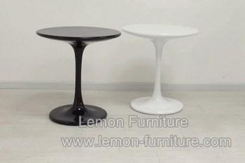 Foshan wit ang zwart glasvezel tulp ronde tafel fabriek buy