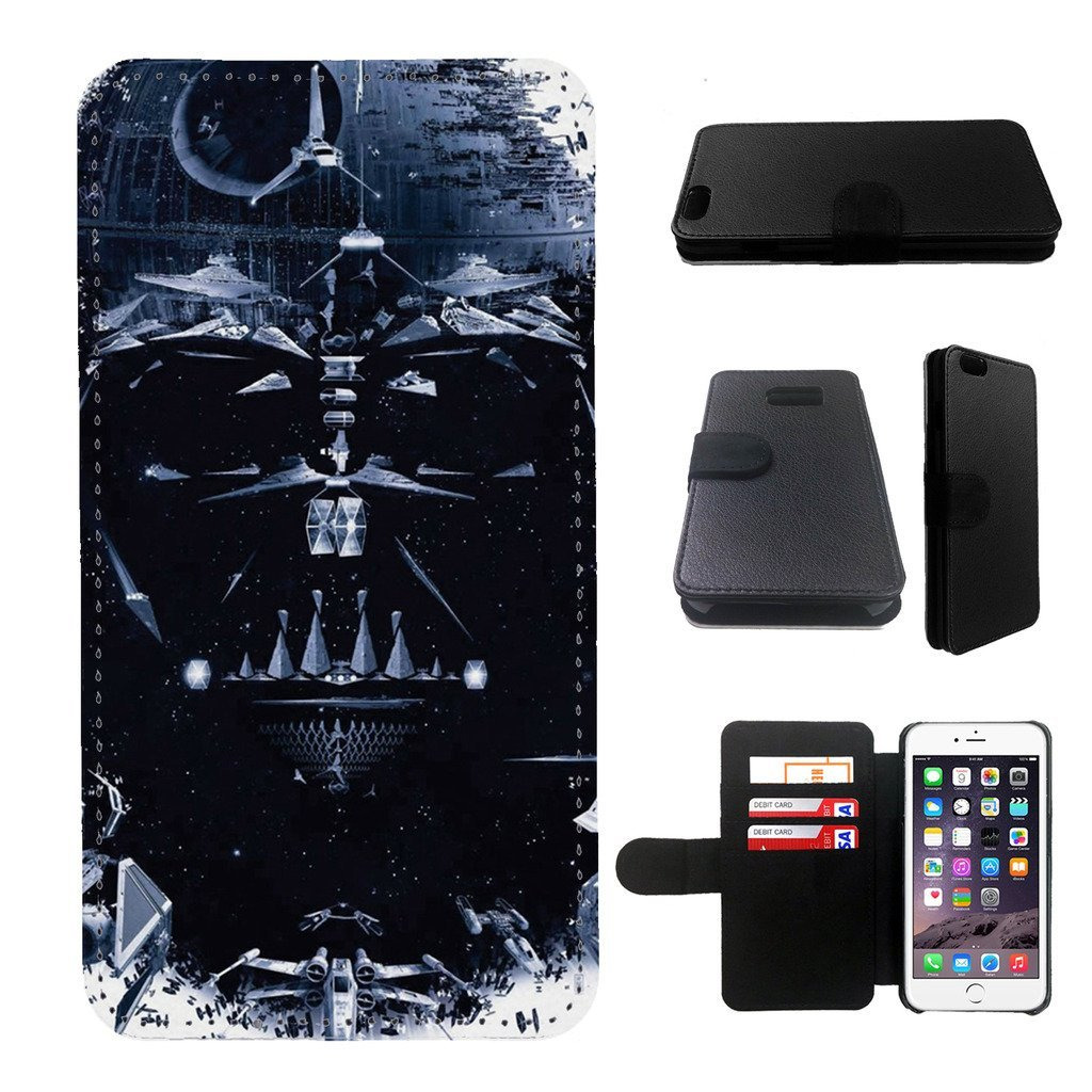 Star wars Samsung Galaxy note 4 wallet leather case, galalxy note 4 wallet case, galaxy s5 flip case, black, design #17