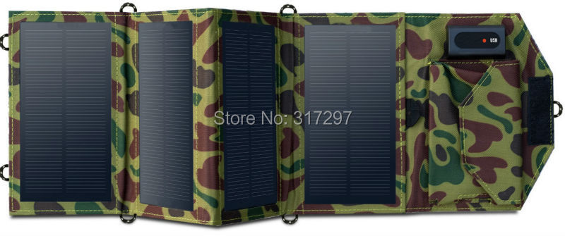 High Quality 7 2W Portable Solar Charger for Mobile Phone iPhone Folding Mono Solar Panel Foldable