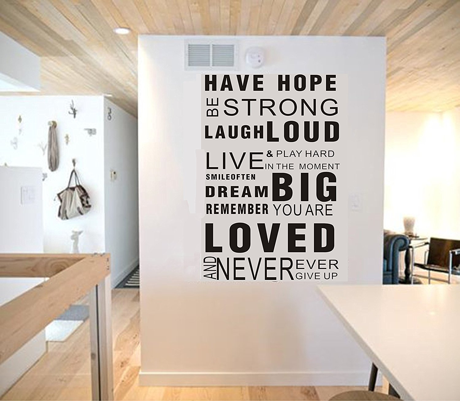 LUCKKYY HOPE Inspirational Wall Decals Quotes,Word Wall Sticker Quotes Family Inspirational Wall Art Vinyl Wall Mural Paint Decor Wall Decals Art Decoration (Black)