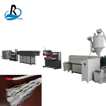 Special design monofilament yarn pp pe plastic extruder fishing rope making machine