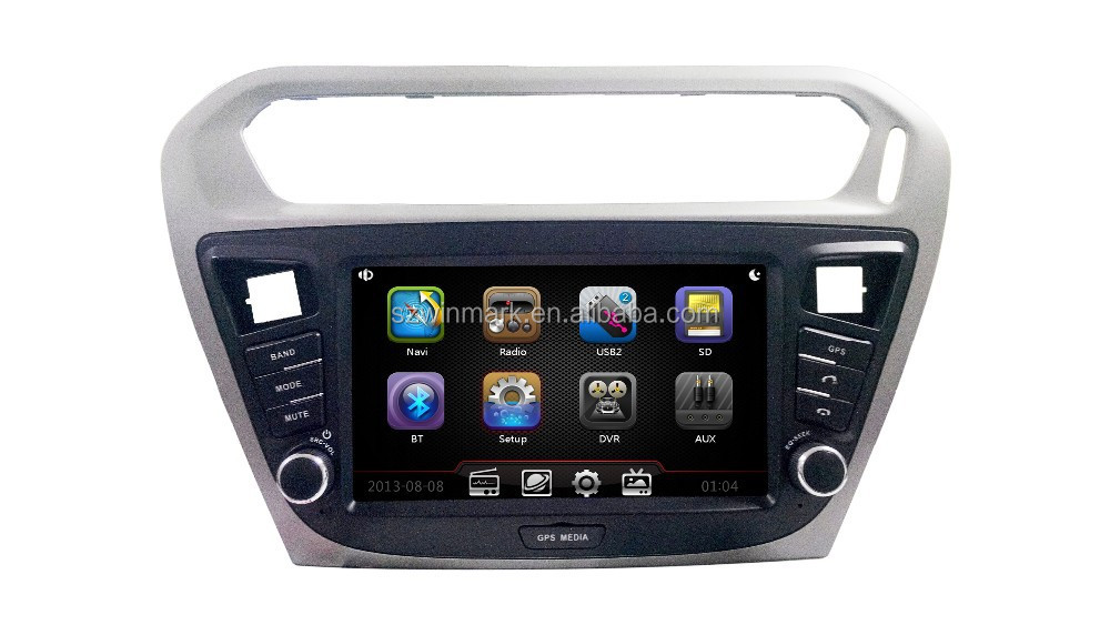 8'' Single Din Touch Screen Car Media Player for Peugeot 301 with Navigation DJ8017