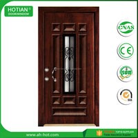 Quality Primacy Used Wrought Iron Exterior Steel Doors Cheap 6 Panel Steel Wood And Armored Door For Sale