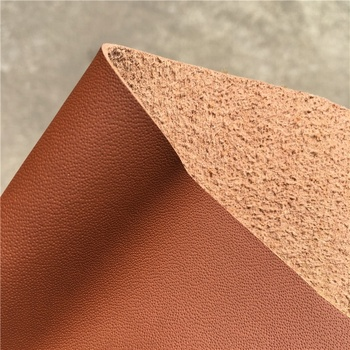 Automotive car seats Tan 1.2mm Nappa recycled bonded pu leather