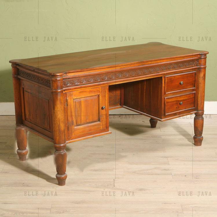 Antique Teak Wood Office Desk Elegant Design Office Furniture - Buy Wood  Furniture,Wood Curved Office Desk,Classic Wood Office Desk Product on ...