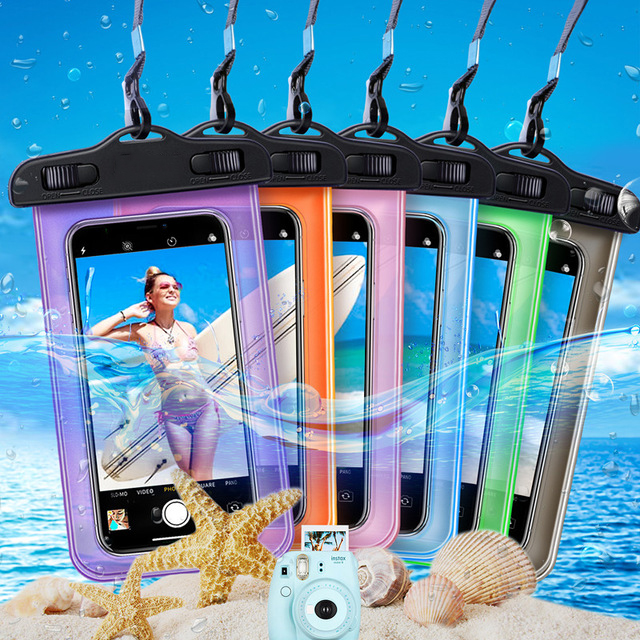 IPX8 Waterproof Bag Case Universal 6.5 inch Mobile Phone Bag Swim Case Take Photo Under water For iPhone For Samsung