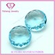 Wuzhou round brilliant cut names ocean blue glass gemstone