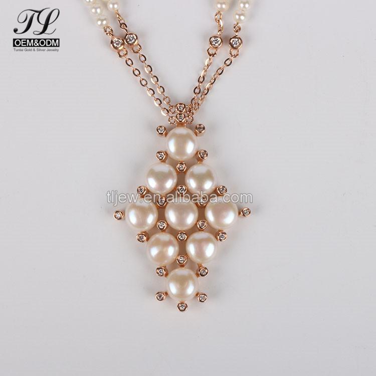 835fd7268aae 2018 el último modelo de diseño moderno de collar de perlas + moda hecho a  mano