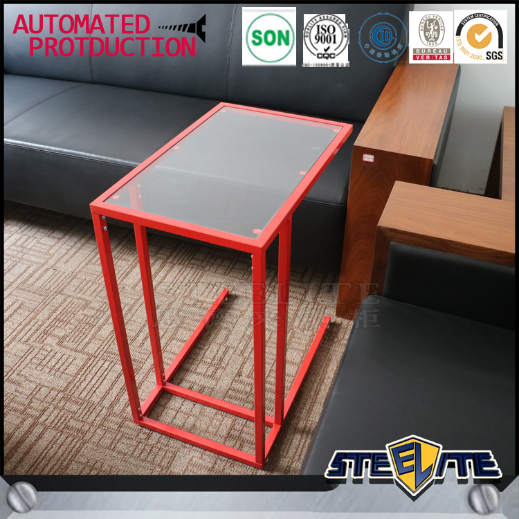 Korean Style Furniture Glass Tea Table Design Metal Coffee Table