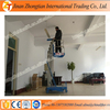 Mobile electric hydraulic motorcycle lift table telescopic lifting equipments