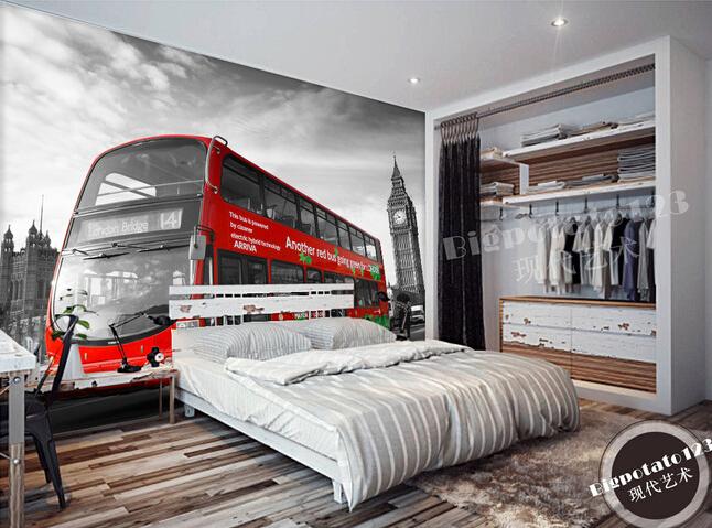 Aliexpress.com : Buy Custom Wallpaper Photo, Black And