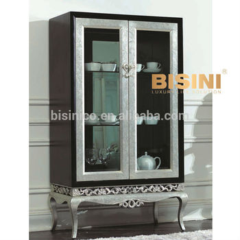 European Neoclassic Style Victoria Dining Room Furniture Luxury Glass Door Cabinet SideboardBF01 03018