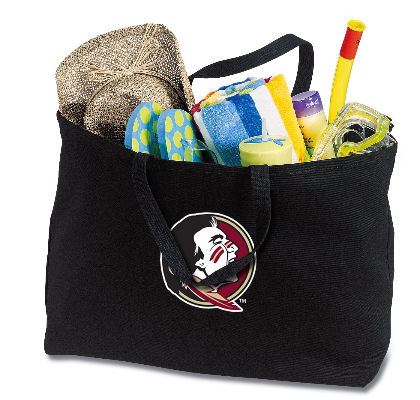 JUMBO FSU Tote Bag or Large Canvas Florida State Shopping Bag