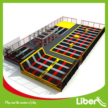 5.LE.B8.608.061.01 commercial foam pit basketball hoop climbing rock ninja course kids gymnastic indoor trampoline high