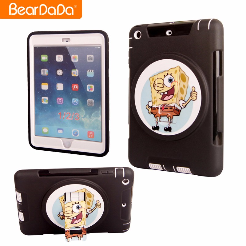 Hybrid 2 in 1 360 customized print case for ipad mini 2