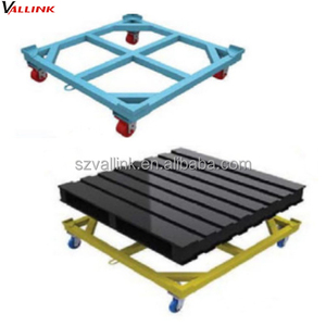 Customized Heavy Duty Steel Four Wheel Moving Pallet Dolly