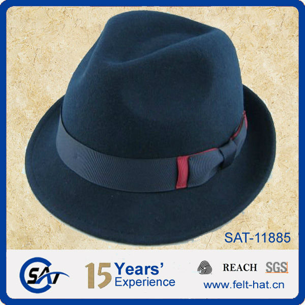 a612639d8f4 Tie Dye Printed Fedora Hat With Feather Made 100% Wool Felt
