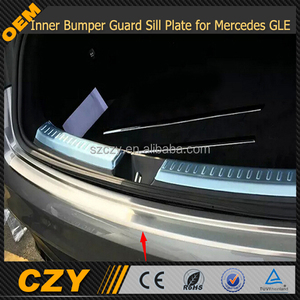 Rear Door Inner Bumper Guard Sill Plate for Mercedes GLE sport bumper 2015 UP