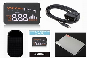 Car digital high-definition Head Up Display vehicle speed limiter