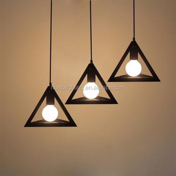 Nordic Vintage Cone Shaped Lamp Shades Iron Pendant Indoor Intertek Light